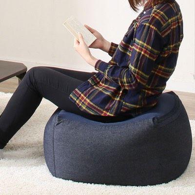 「体にフィットするソファ」小を座椅子として使用