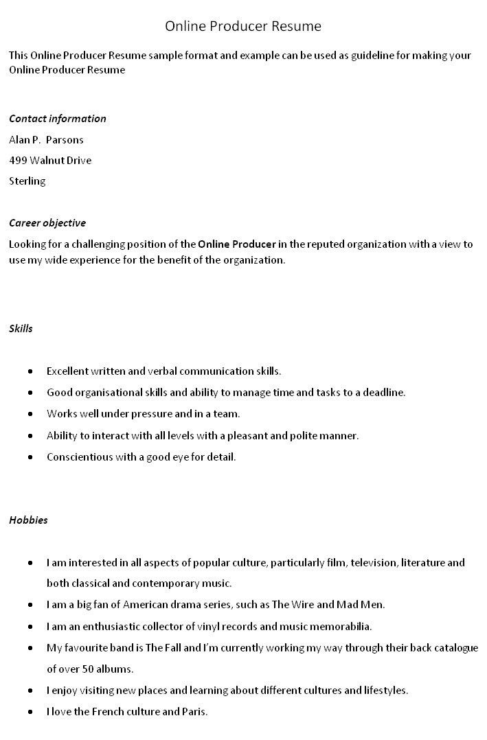 Examples Of Special Skills For Resume - Examples of Resumes