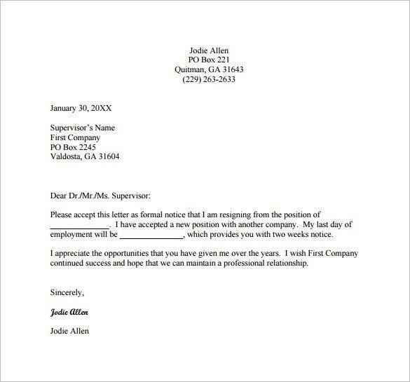 Example Of Resignation Letter Best 25 Resignation Letter Ideas On - letters of resignation sample