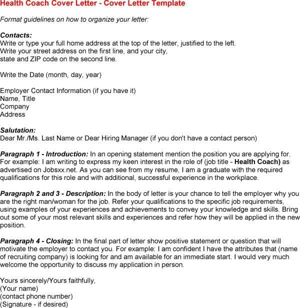Health Coach Cover Letter | Cover Letter