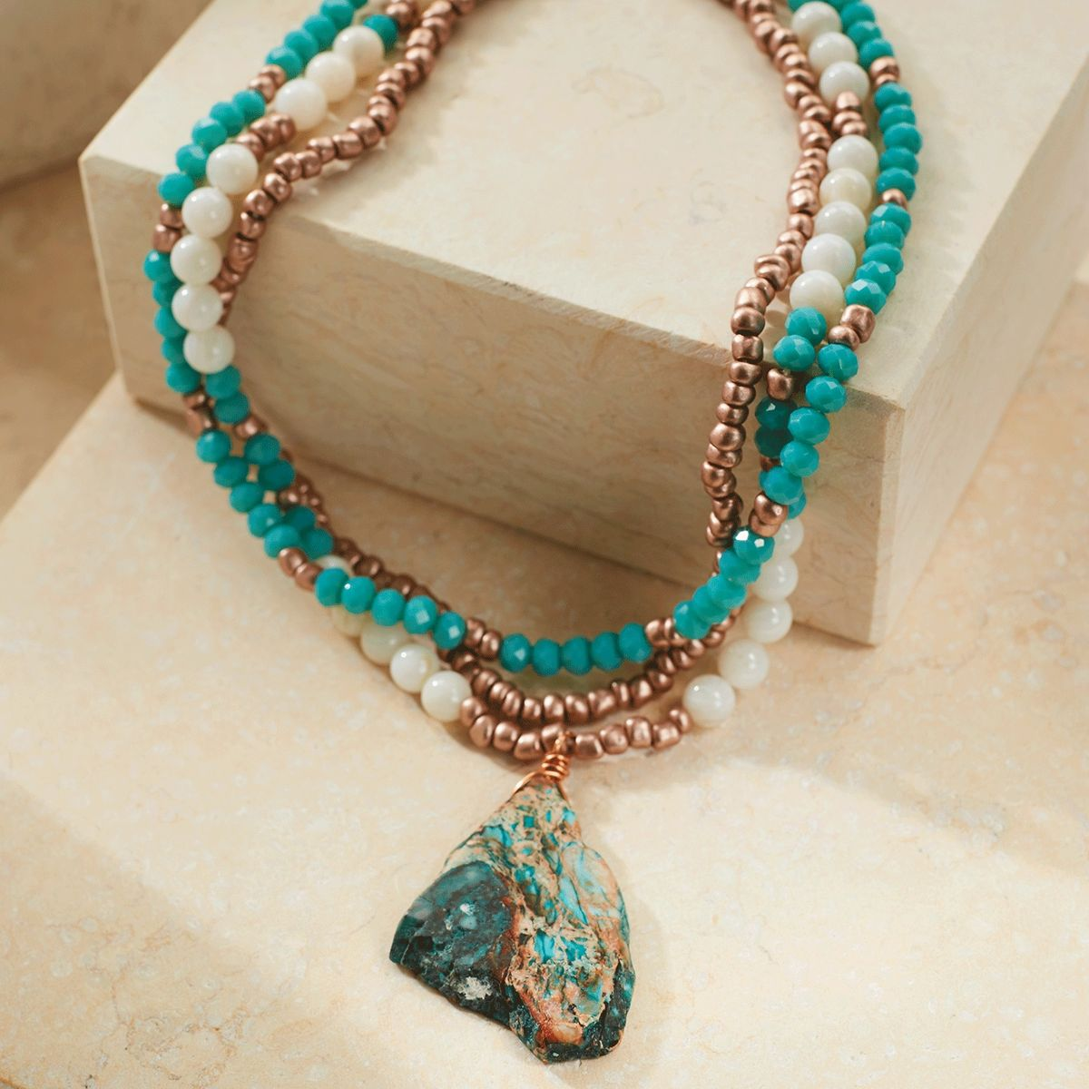 Rose Gold and Jasper Layered Necklace