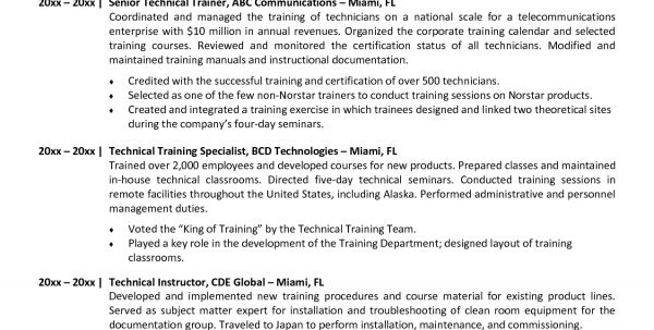 Trainer Resume Sample Unforgettable Personal Trainer Resume - sample training calendar