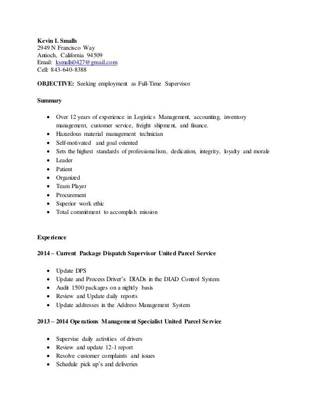 Ups Package Handler Resume ups resume unforgettable package – Package Handler Job Description