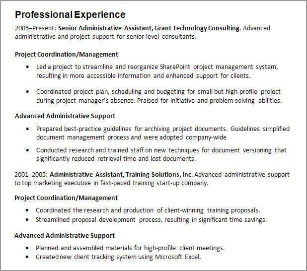 Resume Sample Work Experience Example Resume Format Work - work experience resume example