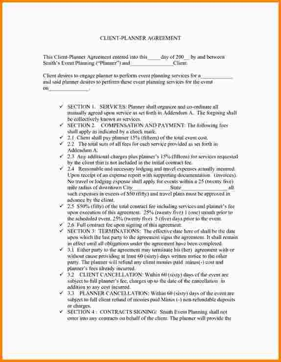Event Planning Contract Samples Event Planner Contract Template - sample event checklist template