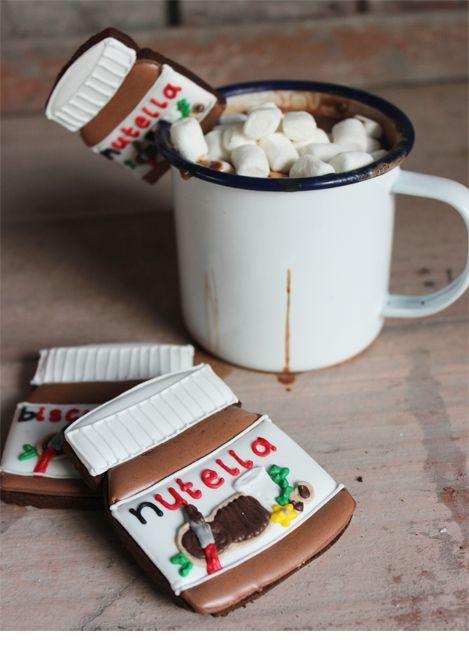 Nutella hot chocolate Biscuiteers recipe on the Bake Love Blog
