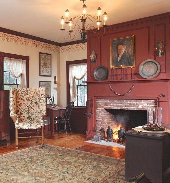 1000 Images About Colonial Rooms And Fireplaces On