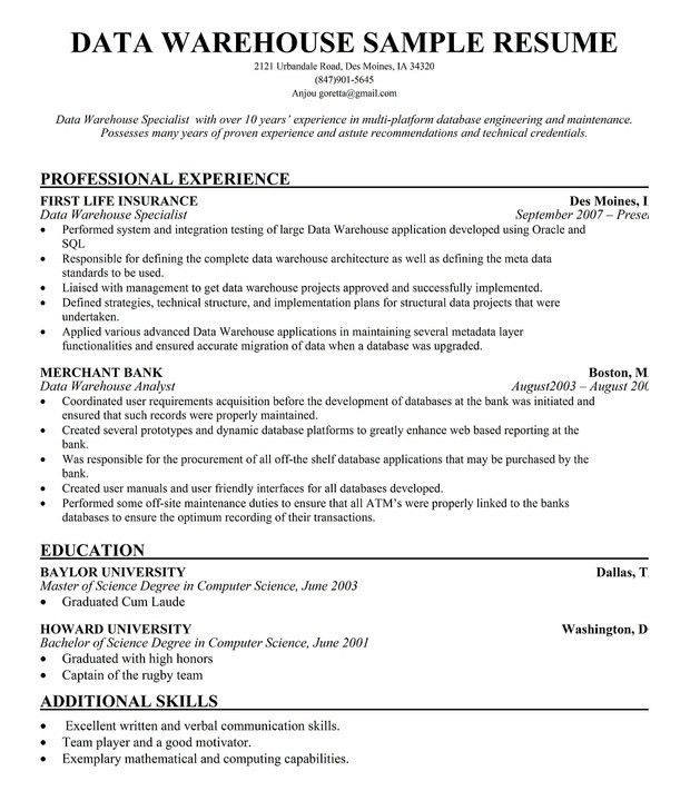Resume Objective For Warehouse 7 Resume Objective For Warehouse - warehouse resume objectives
