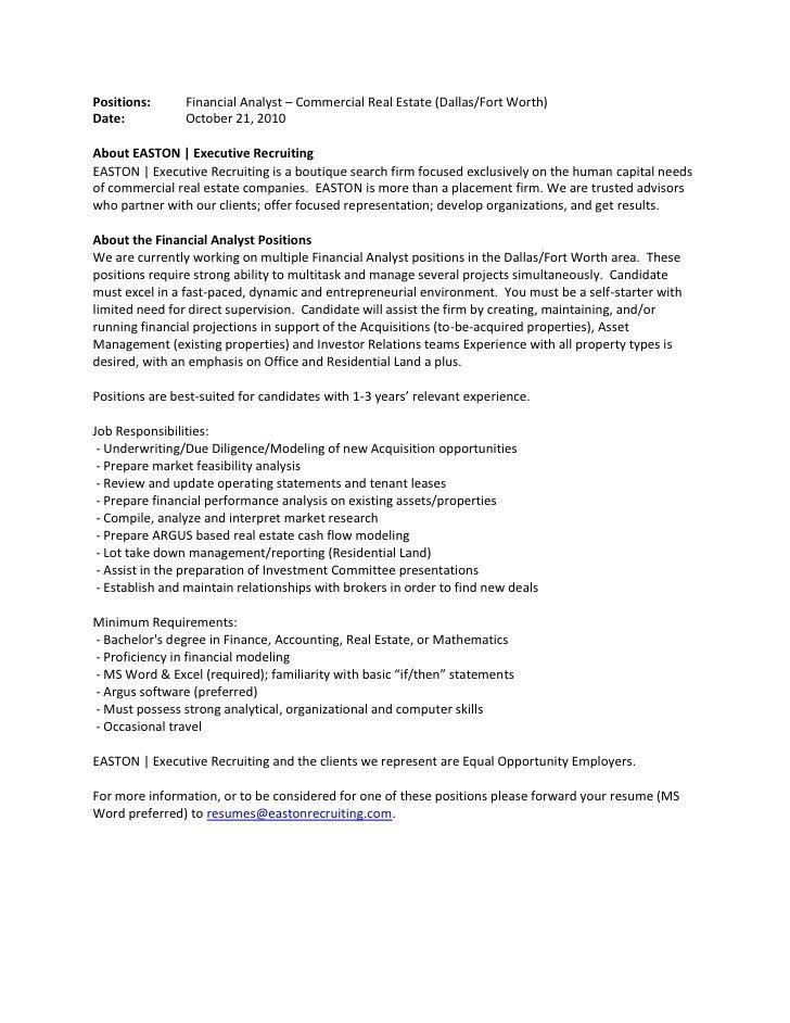 Job Description For Financial Advisor Financial Planner Job - research analyst job description