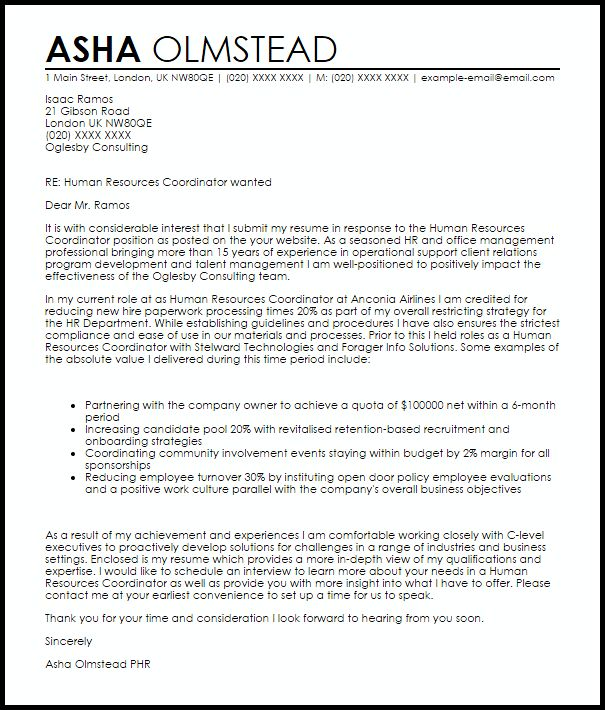 Appointment Coordinator Cover Letter | Node494-Cvresume.Cloud
