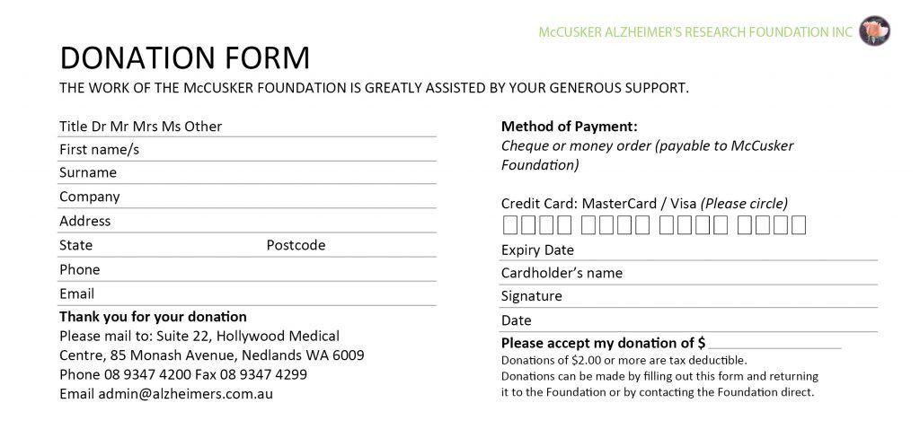 sample pledge card non profit