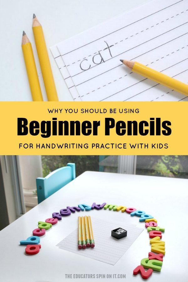 Why You Should be Using Beginner Pencils from Ticonderoga Pencils for Handwriting Practice with Kids #ad