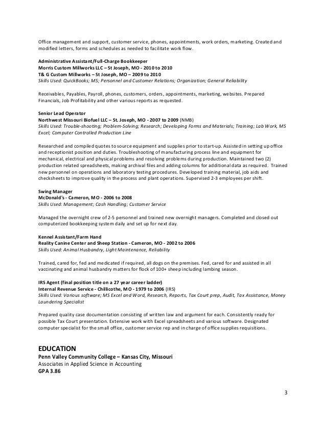 assembler resume sle assistant resume sle