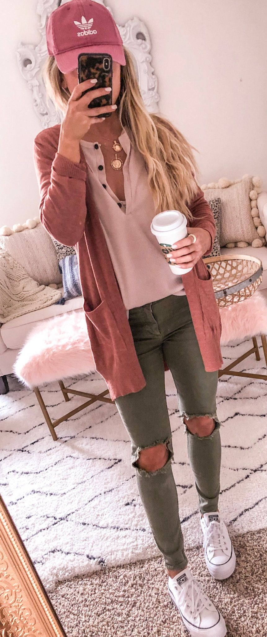 brown cardigan #spring #outfits