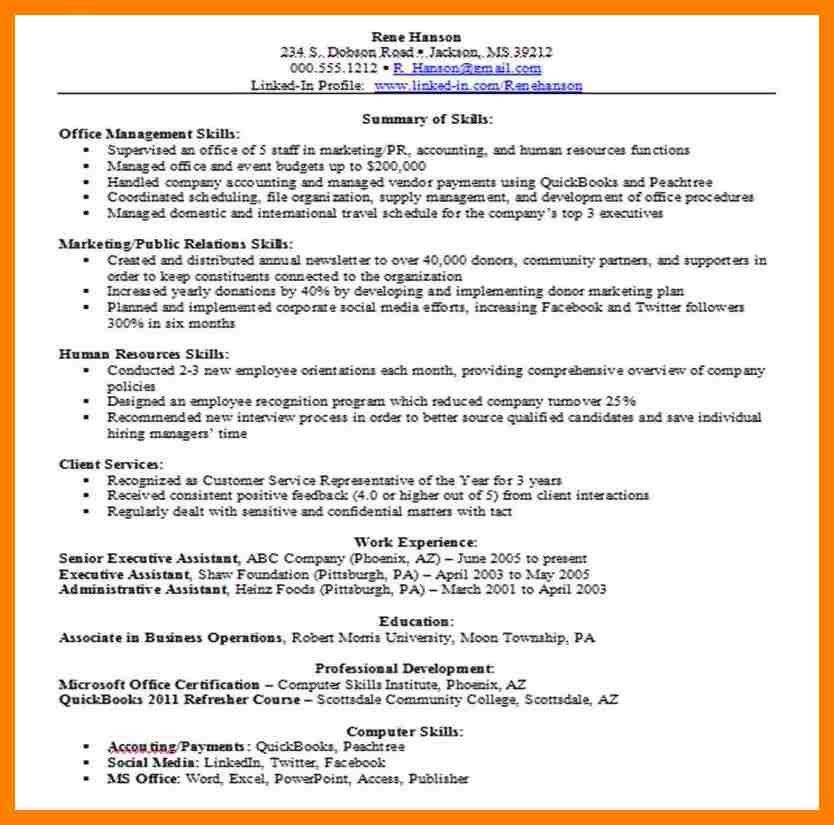 resume skill example some example of resume resume skills