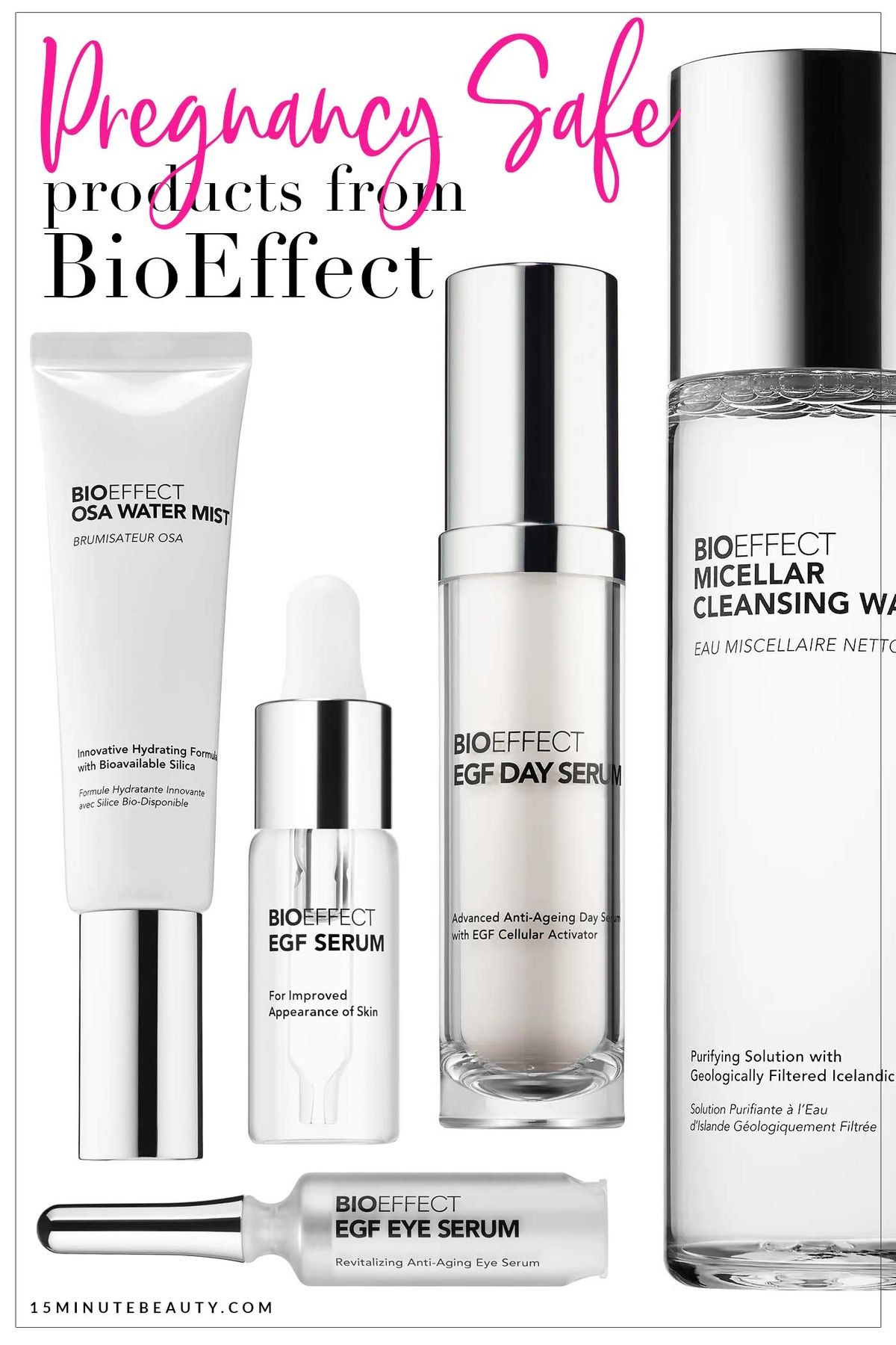 Is it ok to use BioEffect Skincare when pregnant? The epidermal growth factors are great to fight aging, and this is an amazing new line at Sephora. But is it safe during pregnancy?