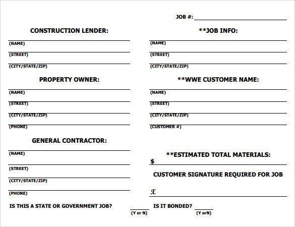 Job Sheet Template Free Download Sample Job Sheet Template 7 Free - job sheet example