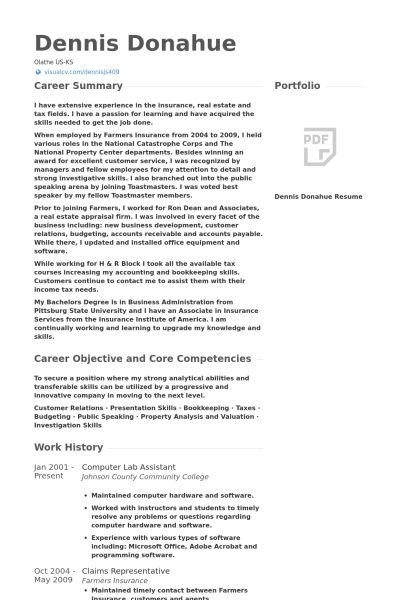 lab assistant sample resume