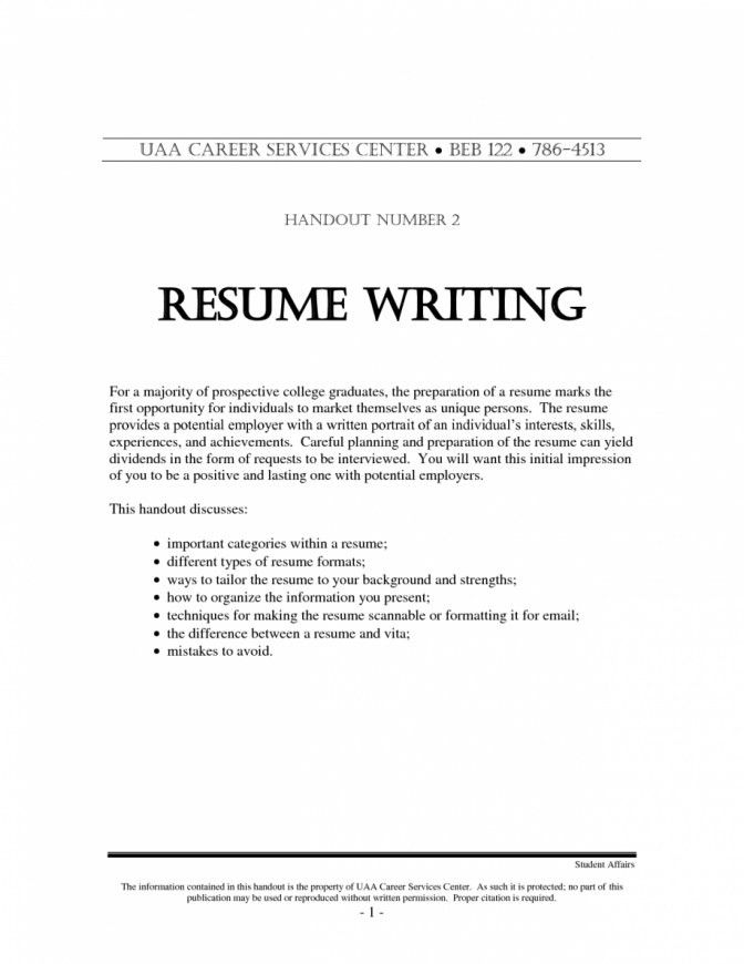 different types of resumes samples