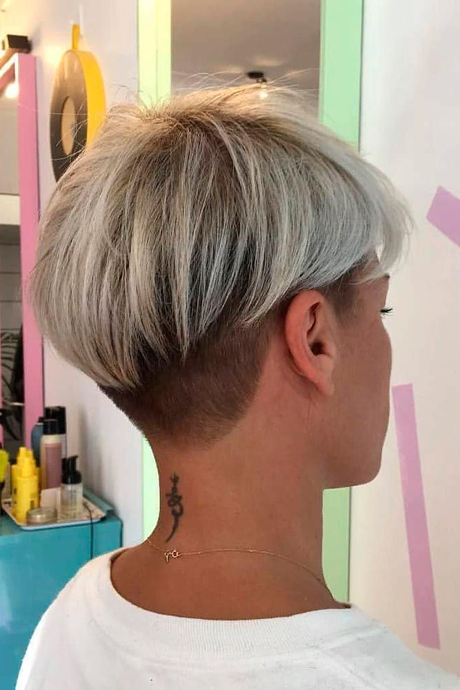 Pretty Pixie With Undercut #undercut #pixiehair ★  Short hairstyles for round faces are in trend! If you have blonde hair and a round face, check out these 40 hairstyle ideas. #glaminati #lifestyle #shorthairstylesforroundfaces