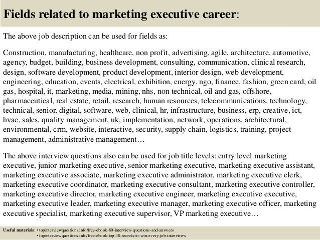 Marketing Executive Job Description Marketing Executive Job - marketing consultant job description