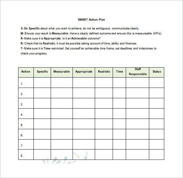 ... Smart Action Plan Template Word Action Plan Template 110 Free   Free  Action Plan Templates ...  Free Action Plan Template Word