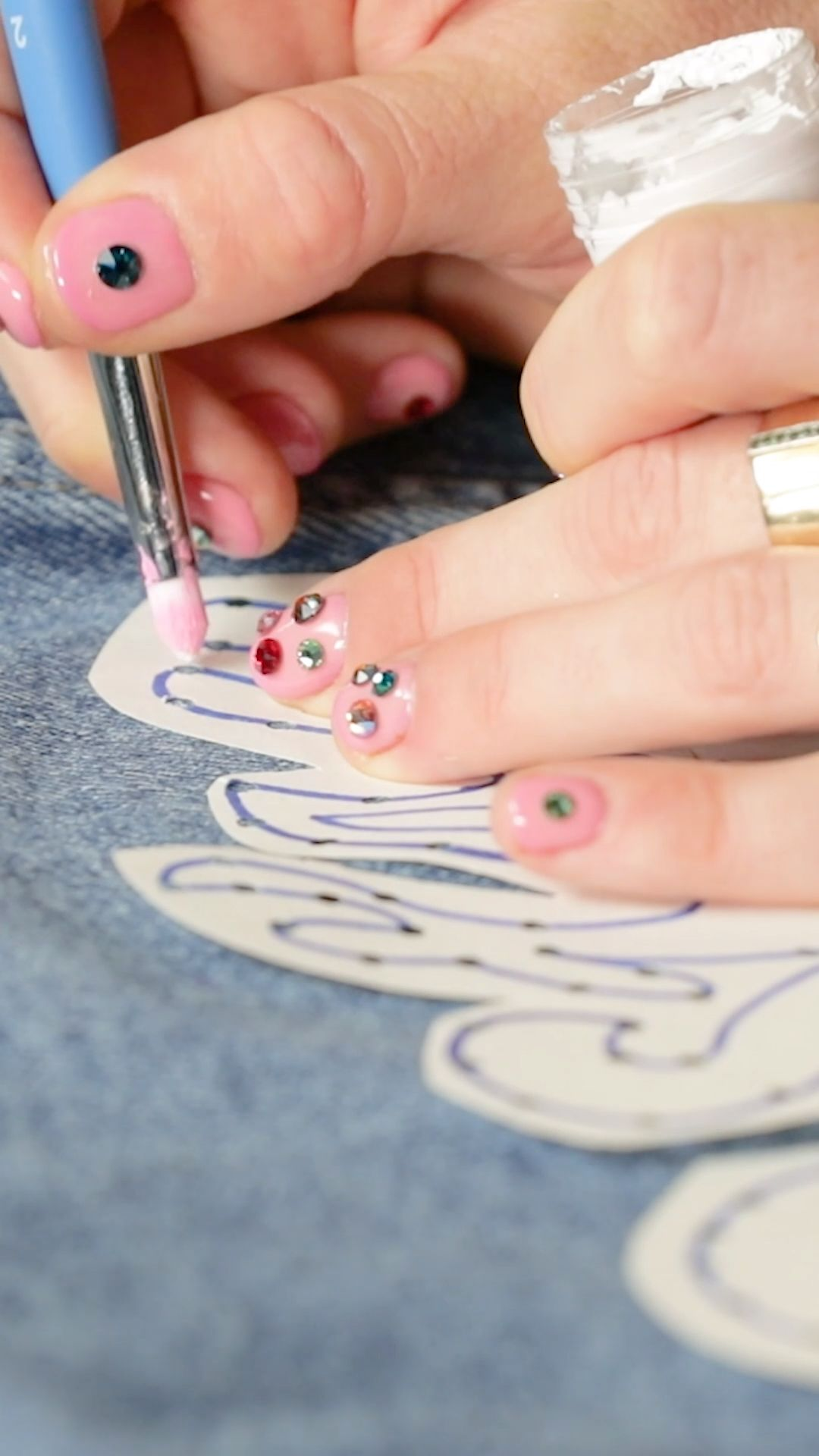 DIY Denim Jacket Embroidery