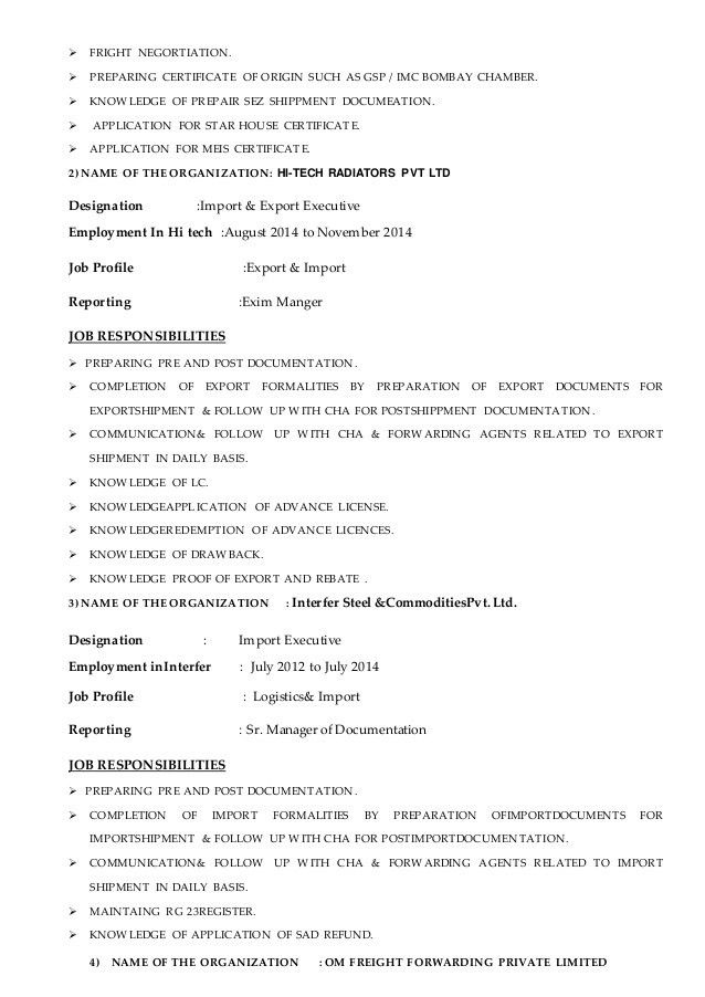 freight agent sample resume node2004-resume-templatepaasprovider