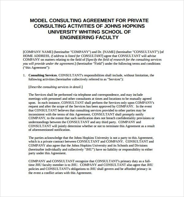 Template Consulting Services Agreement Compromise Agreements - consulting retainer agreement