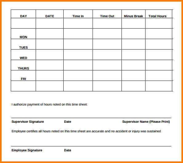free time sheet forms