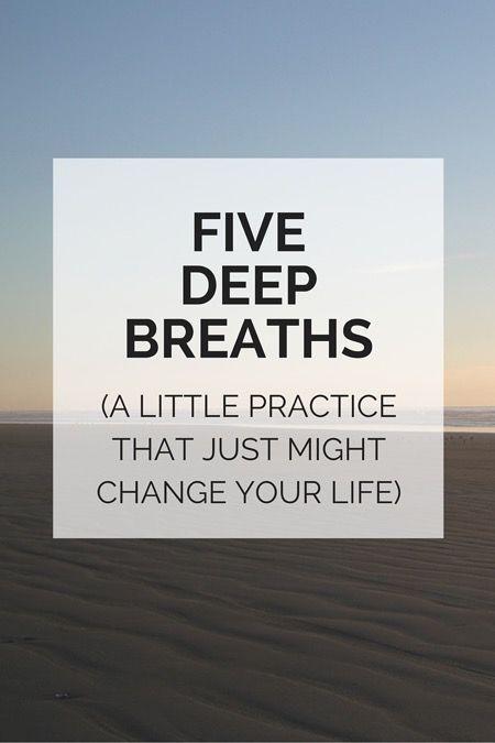 the five deep breaths practice — Liz Lamoreux