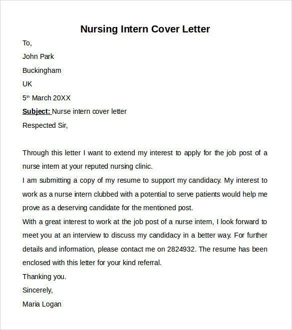nursing externship cover letters