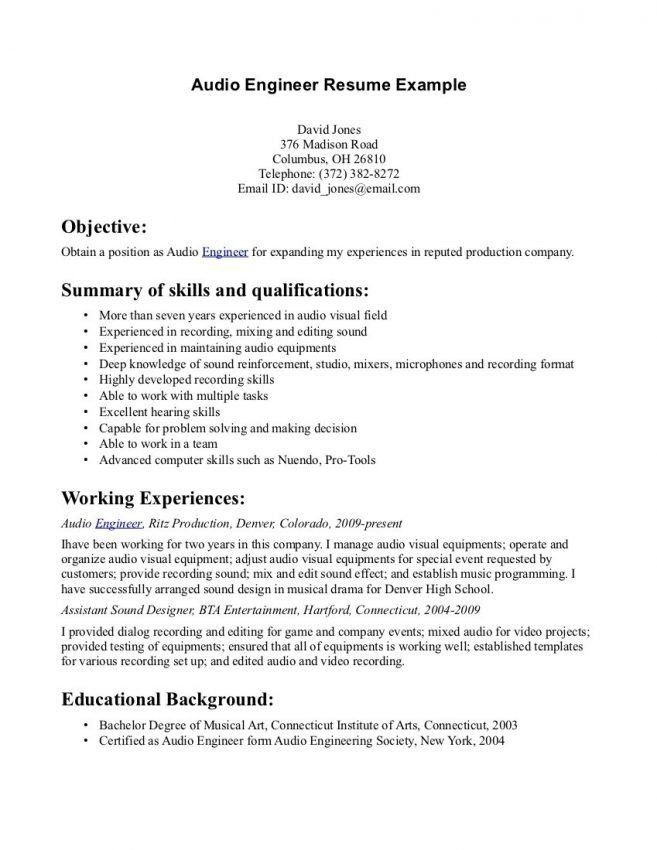 Audio Visual Technician Resume. Amazing Audio Visual Technician