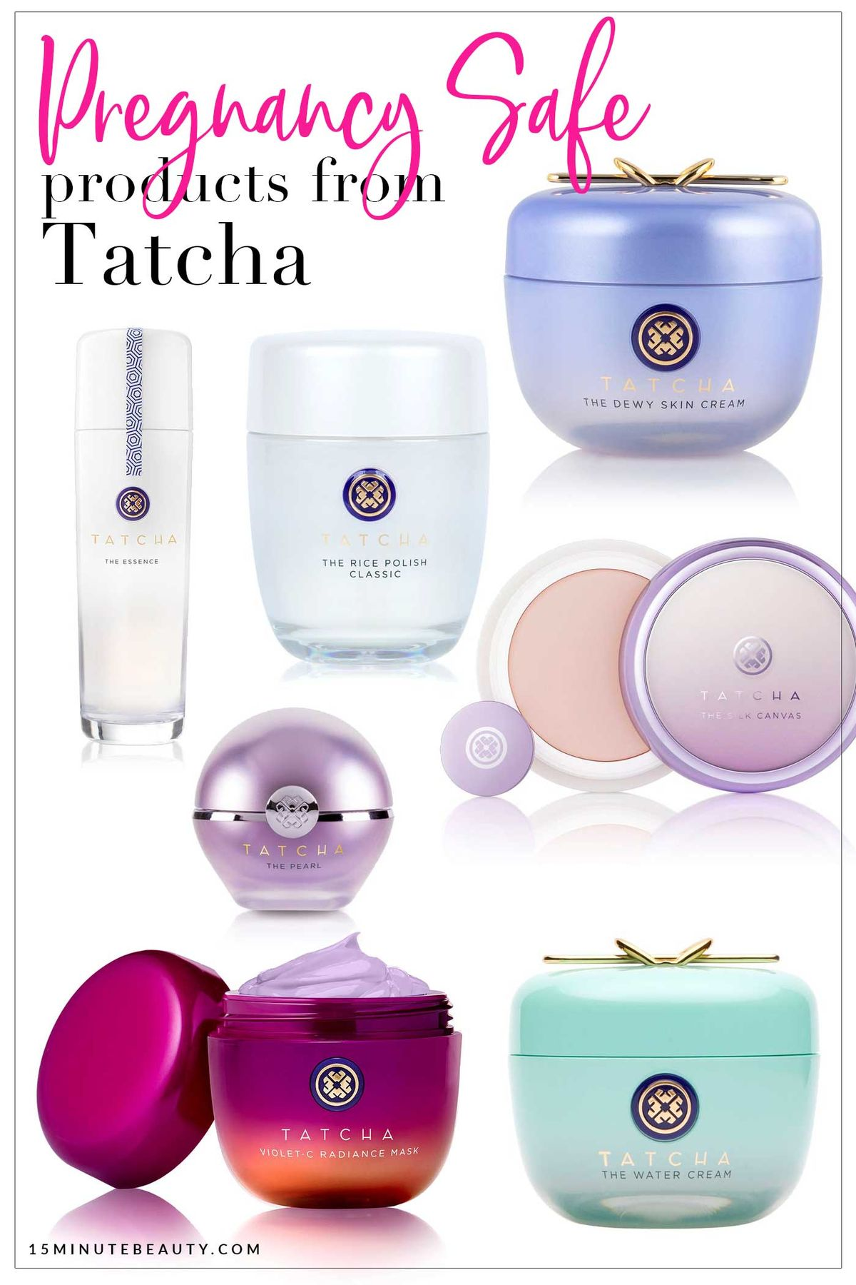Can you use Tatcha while pregnant? A great list of which products you can use while pregnant or nursing.