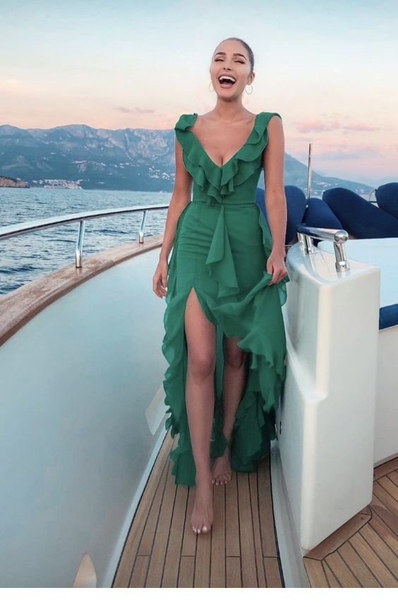 Very nice green summer long dress