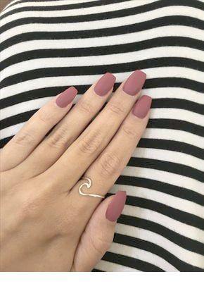 Cute brown matte nails