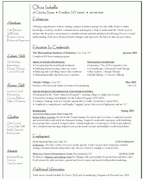 Cosmetology Resume Samples Cosmetologist Resume Example - cosmetology resume