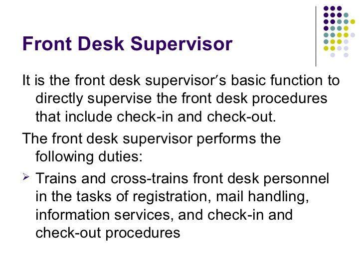 Front Desk Job Description Image Gallery Of Nice Design Ideas