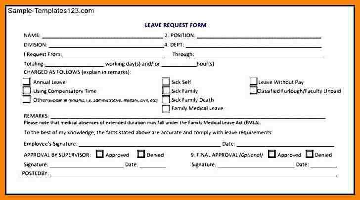 Leave Request Form Template  BesikEightyCo