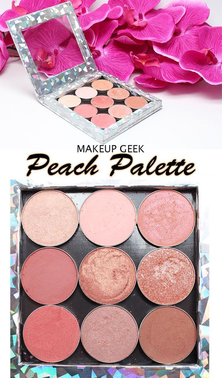Makeup Geek Peach Palette. Looking for a true peach eyeshadow palette? This is the best! #crueltyfreeblogger #crueltyfreemakeup #crueltyfreemakeupblogger #beauty