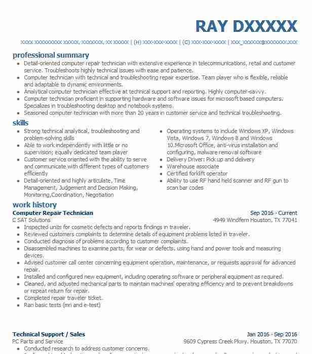 computer support technician resume doc mittnastaliv tk tech resume