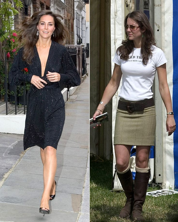 Kate Middleton's Pre-Wedding Diet Plan. Right pic, before diet and she looks beautiful. Left after loss, pretty in this pic also.