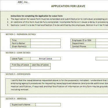 Leave Forms Template Sample Medical Leave Form 13 Download Free - medical leave form