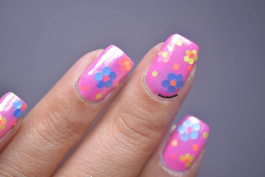 Look at my Sweet New Confetti Nail Design – Reny styles