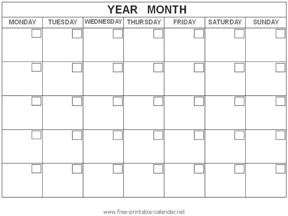 Free Printable Calendar Templates Printable Calendar Templates - attendance calendar template