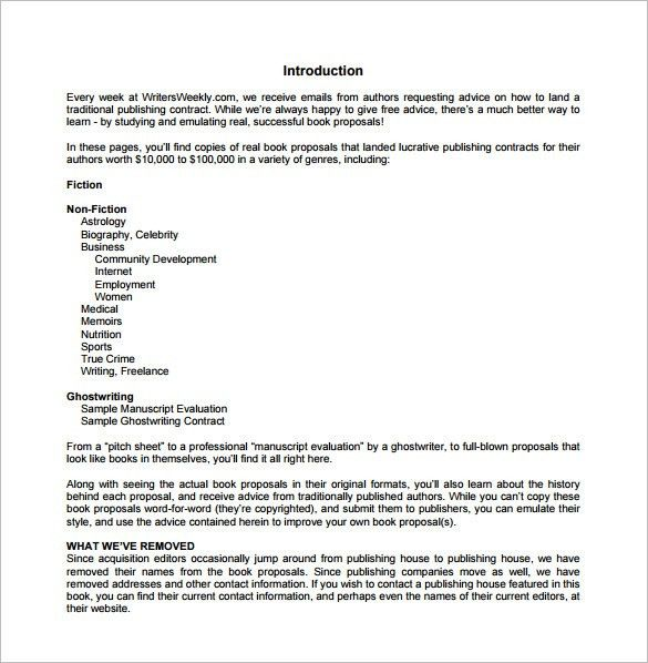 Freelance Proposal Template Sample Freelance Proposal Template 5 - book proposal sample