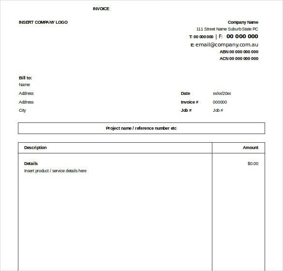 Invoice Copy Format Billing Invoice Template For Excel, Free - generic invoice
