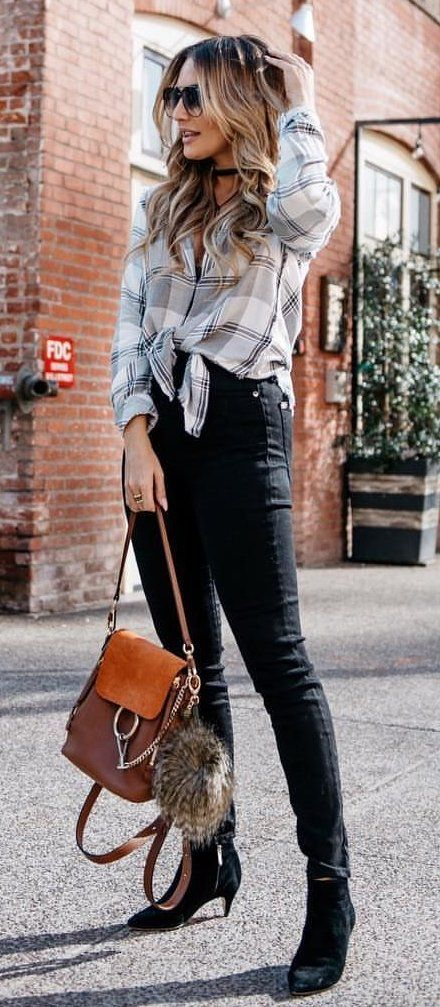 white and gray dress shirt #spring #outfits