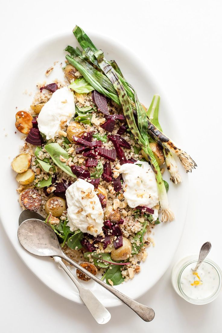 Roasted Beets with Quinoa Burrata and Baby Potatoes