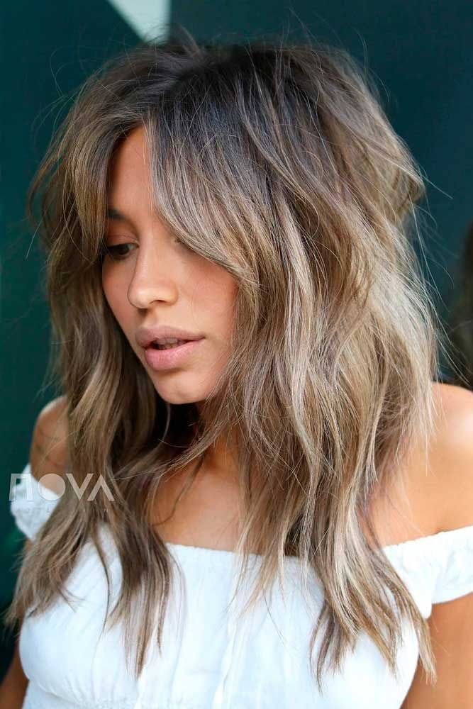 Messy Layered Hairstyle For Every Day #tousledhairstyle #ashbrownhair #layeredhair ★ Explore trendy long haircuts with layers for women. We have ideas for wavy, straight, thin and for thick hair. #glaminati #lifestyle #longhaircuts